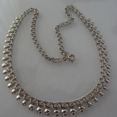 1950s silver necklace