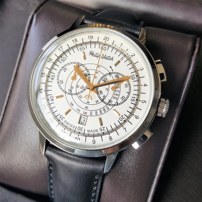 Philip Watch - Swiss Made Grand Archive Telemeter Chronograph Hesalite  - R8271698003 - Homem - 2019 - New