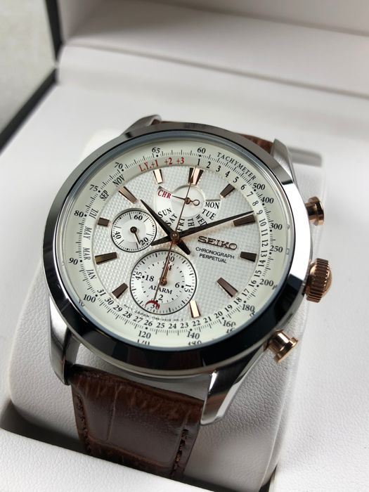 the latest 22179 65464 Seiko - Chronograph Perpetual Calendar - SPC129P1 - Men - 2011-present -  Catawiki