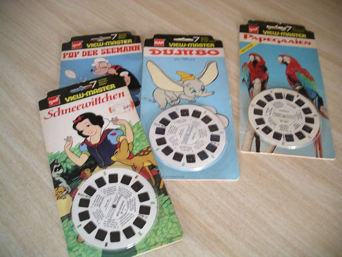 Three View-Master one-reel blister packs from the period 1975-1977 For all ages