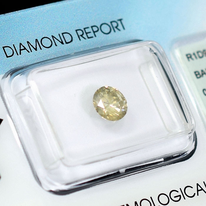 Natural Light Yellowish Brown Diamond - 0.69 ct