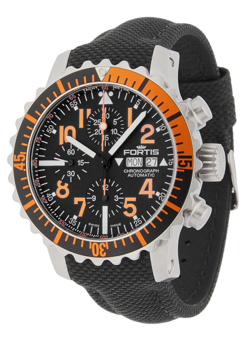 Fortis - Aquatis Marinemaster Chronograph Orange - 671.19.49 LP - Herren - 2011-heute