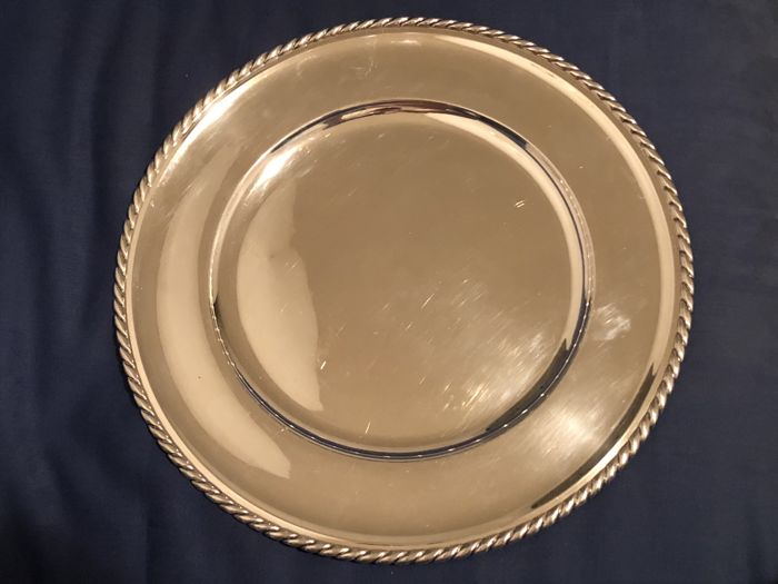 Plate - a complete collection of 4 items - in silver 925 - by Gianmaria Buccellati - Italy - 1950-1999
