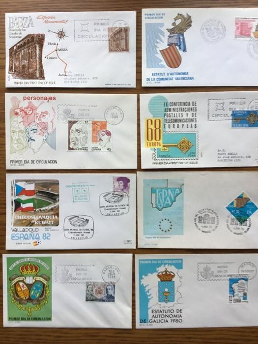 Spain 1963/1983 - Lot of 250 different First Day envelopes - Catawiki