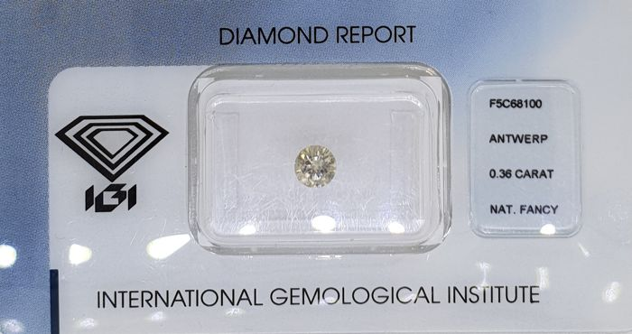 1 pcs Diamant - 0.36 ct - Brillant - SI2