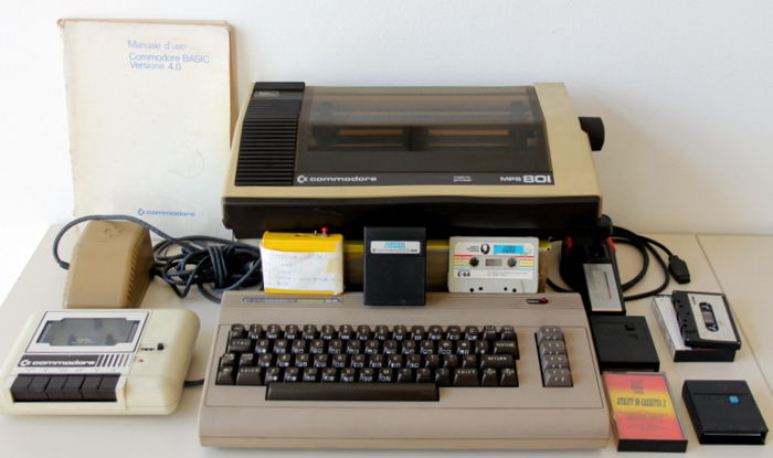 Commodore 64 with original Printer, various games and booklet