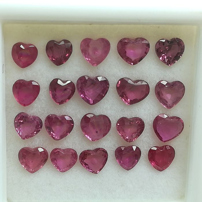 Lot of 20 Rubies - 3.50 ct