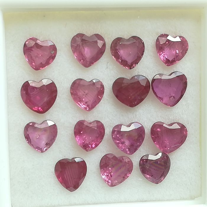 Lot of 15 Rubies - 3.74 ct
