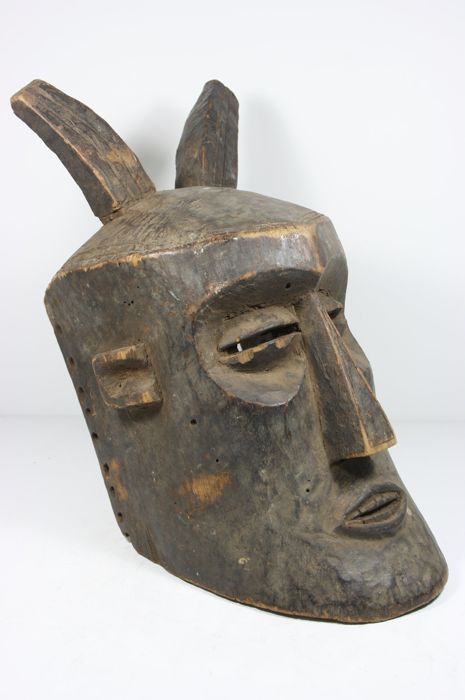 Large African helmet mask, Bwoom mask - KUBA - D.R. Congo