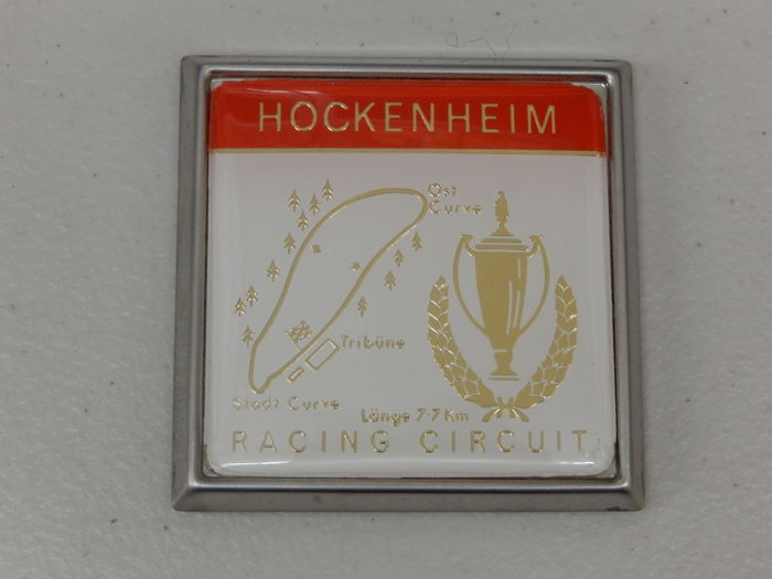 Insigne - Vintage Hockenheim German Racing Circuit Car Badge - 1970