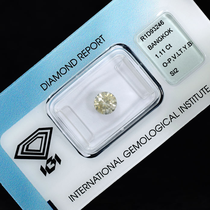Diamond - 1.11 ct, O-P / Si2 - NO RESERVE PRICE