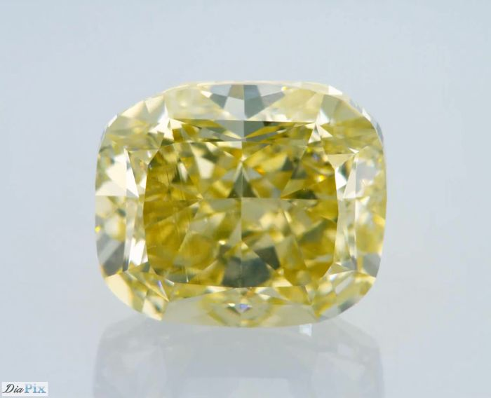 4.02 Carat GIA Fancy Light Brownish Yellow VS1 Cushion Diamond - LOW RESERVE!