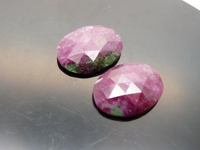 Pair of rubies with zoisite - 15.21 ct - No reserve price