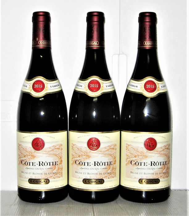 2015 Côte-Rôtie 'Brune & Blonde', Domaine E. Guigal – Lot of 3 bottles