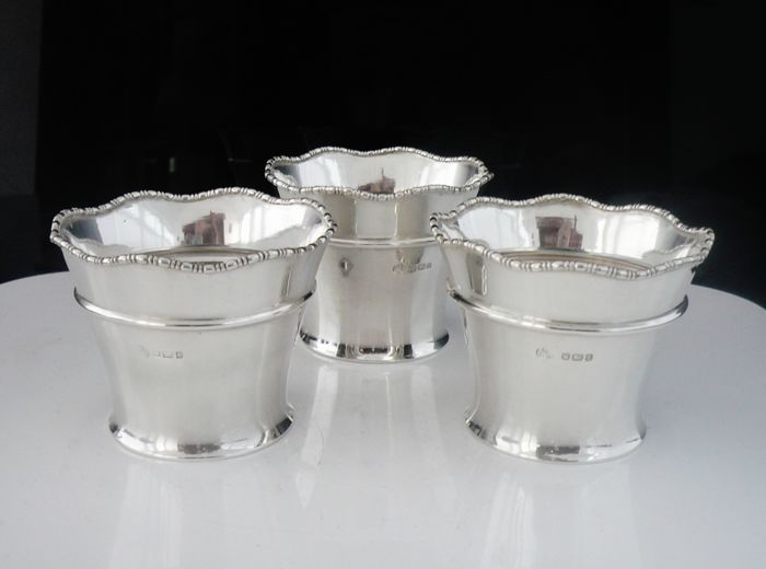 Set of Three Pots - .925 silver - Elkington & Co - U.K. - 1900-1949