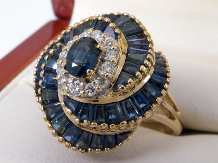 LeVian - Diamonds & sapphire ring - 2.88ct - *NO Reserveprice*