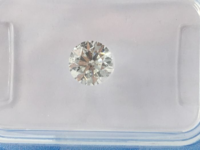 1 pcs Diamante - 0.74 ct - Brillante - I - SI2