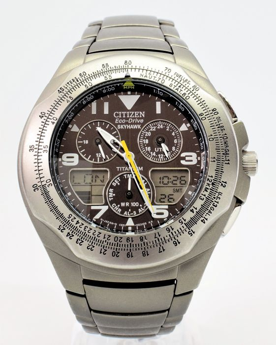 Citizen - Eco-Drive Titanium Skyhawk - Men - 2000-2010 ...