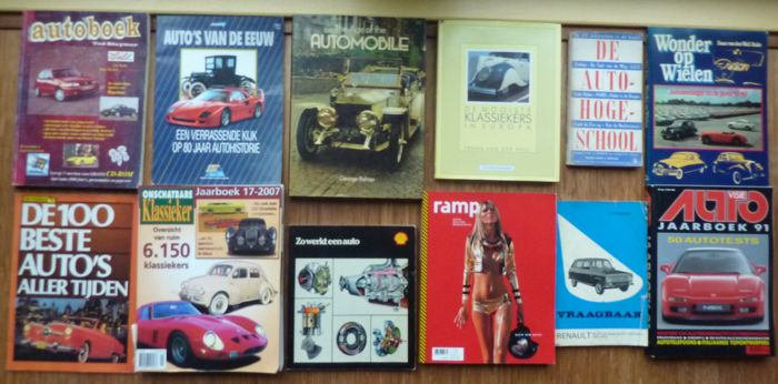 Books - oldtimers classic cars - 1956-2008 (12 items)