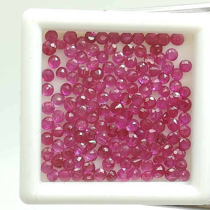 Lot of 150 Rubies - 7.31 ct