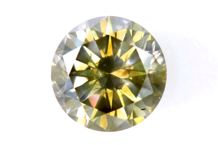 AIG Sealed Diamant - 1.01 ct - Fancy Greenish Brownish Yellow - SI1