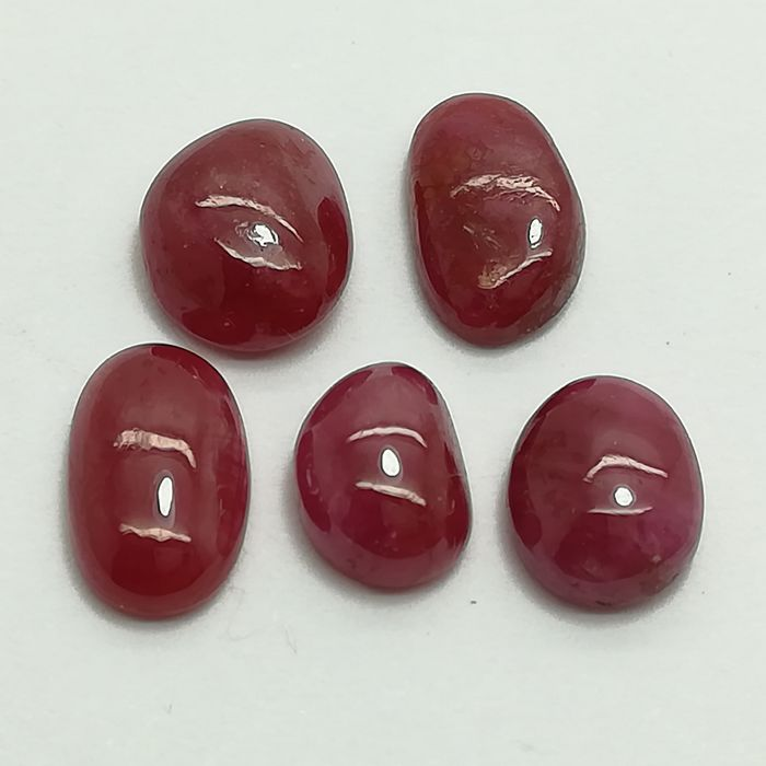 Lot of 5 Rubies - 14.15 ct