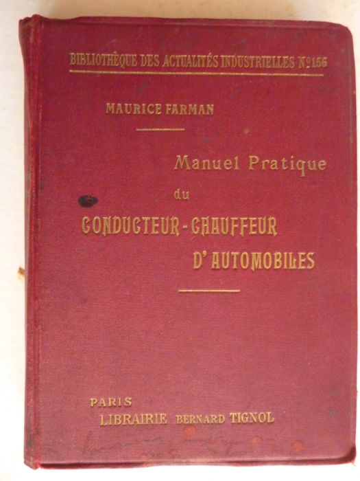 Books - Manuel Pratique du Conducteur d'Automobiles - 1904 (1 items)