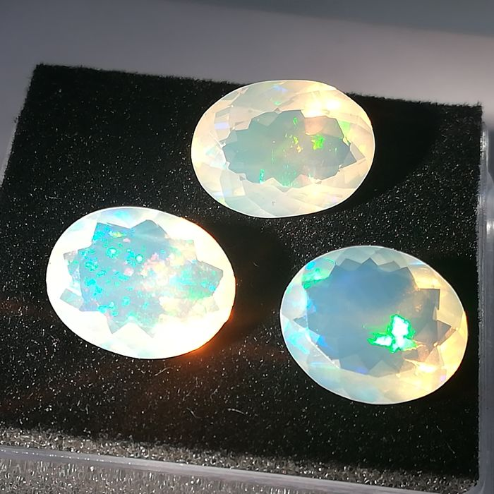 Lot of 3 Noble Opals - 7.60 ct
