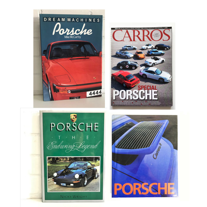 4 books on Porsche