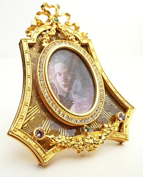 Faberge Imperial Collection - Imperial Royal Picture Frame with Emeralds and 24 carat gold