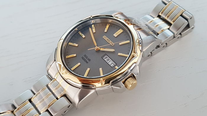 Seiko - solar Gold / steel combination unworn NO RESERVE - Men - 2018