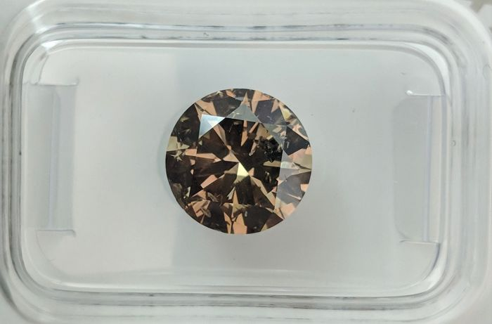 2.70 ct - Natural Fancy Diamond - Intense Brown Color - SI1 - EX/VG/VG - NO RESERVE!