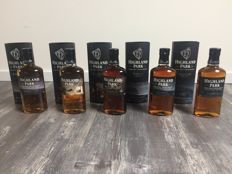 5 bottles - Highland Park, complete keystone series
