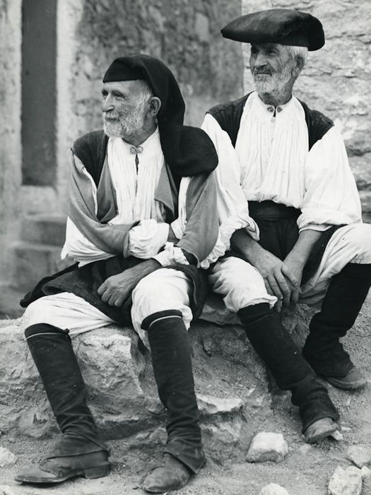 Kees Scherer (1920-1993)  - Men in traditional dress - Sardinia Italy 1961