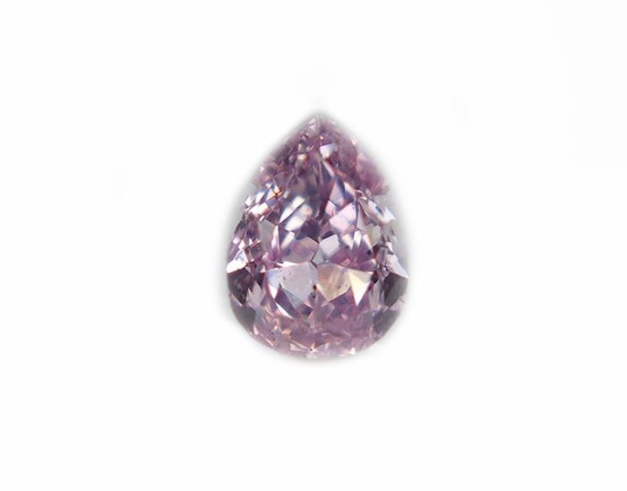 1 pcs Diamond - 0.20 ct - Pear - fancy purple pink - I1