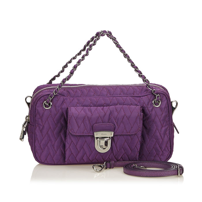 Prada - Quilted Nylon Chain Satchel