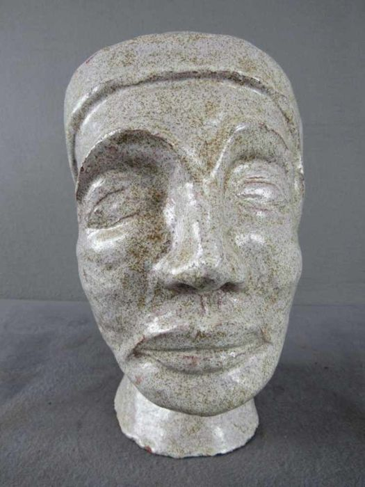 Female Head of Clay - probably Museum replica.