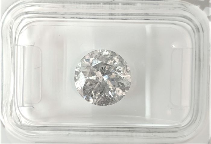 2.55 ct - Natural White Diamond - E Color - I1 - VG/VG/VG - NO RESERVE!