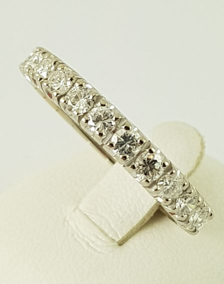 18 carats Or blanc - Bague mémoire - Or 750 - 24 diamants de 1,44 ct. - 1.44 ct Diamant