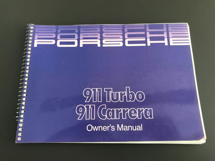 Porsche 911 3.2 Carrera + 3.3 Turbo Drivers manual instruction booklet 1987