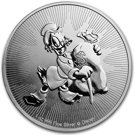 Niue - Disney Scrooge McDuck - 2018 - 1 OZ Silver Coin