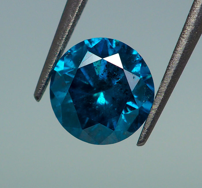 0.70 ct - Fancy Blue Diamond (Color-Treated) SI2 - *NO RESERVE*