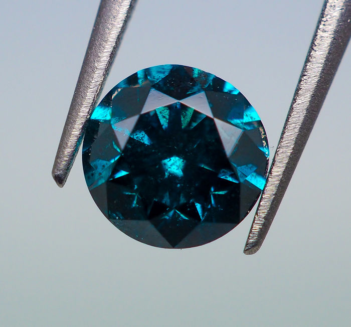 0.45 ct - Fancy DEEP Blue Diamond (Color-Treated) SI2 - *NO RESERVE*