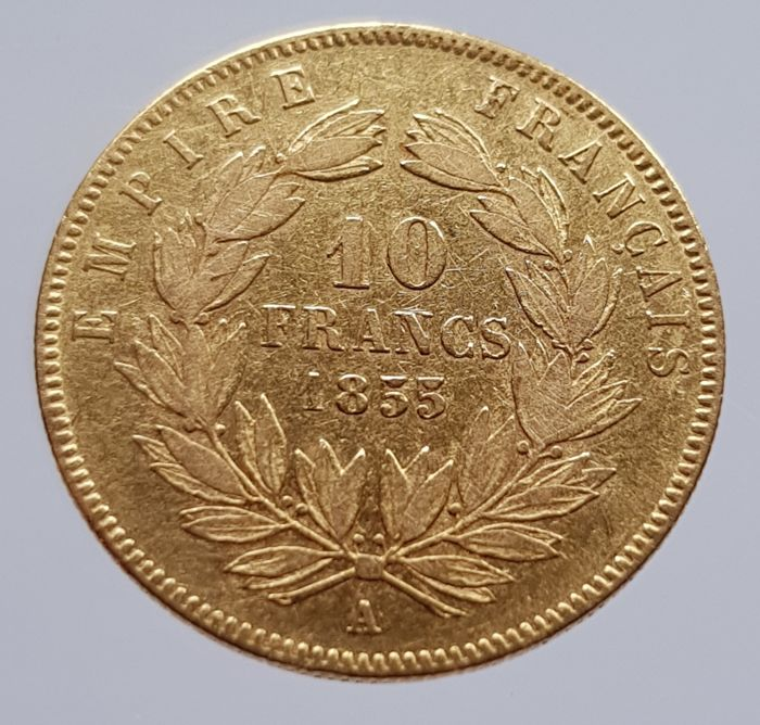 France 10 Francs 1855 A Napoleon Iii Or Catawiki