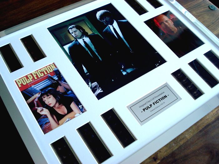 Pulp Fiction - John Travolta, Samuel L Jackson - framed film cell display - 16x20 inches
