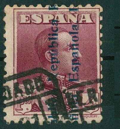 Spanien 1931 - Alfonso XIII, overcharged. Comex certificate - Edifil 602A