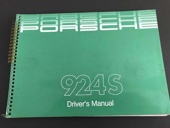 Porsche 924 Turbo S manual instruction manual drivers manual 1986