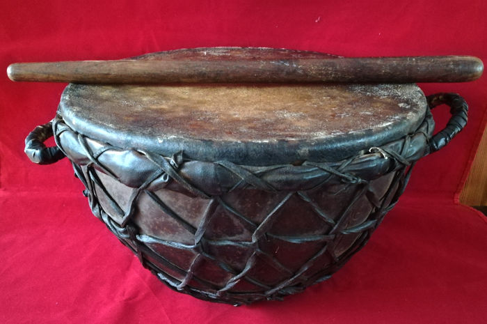 Authentic Turkish Ottoman military kettle drum (Timpani) - Turkey - 18th and 19th century