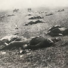 Mathew Brady (1822-1896) - The dead and wounded at Gettysburg, 1863