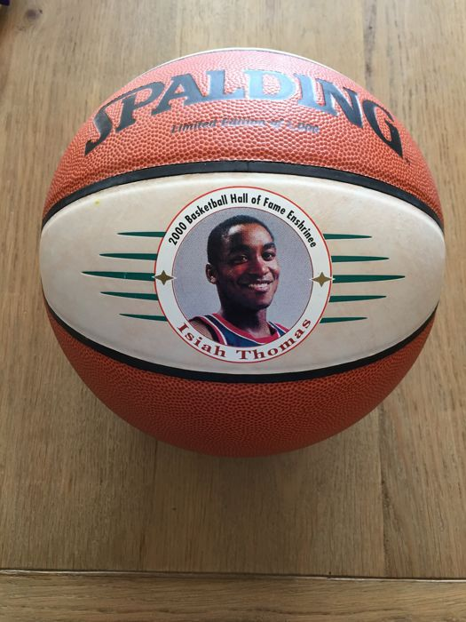 Isiah Thomas Signed Spalding Hall Of Fame Special Logo Basketball (JSA COA)